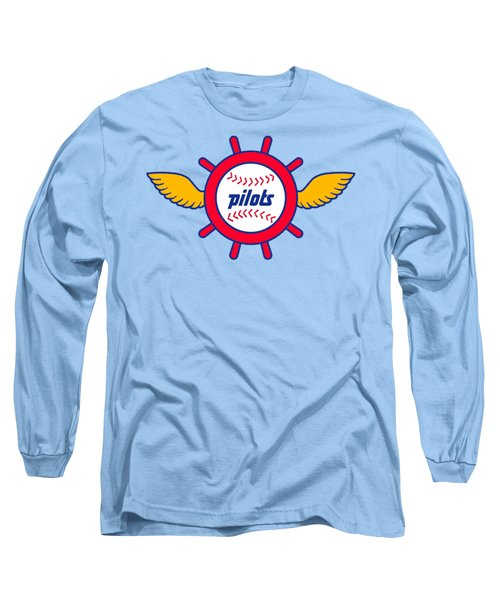 Seattle Pilots Retro Logo Long Sleeve T-Shirt by Spencer McKain