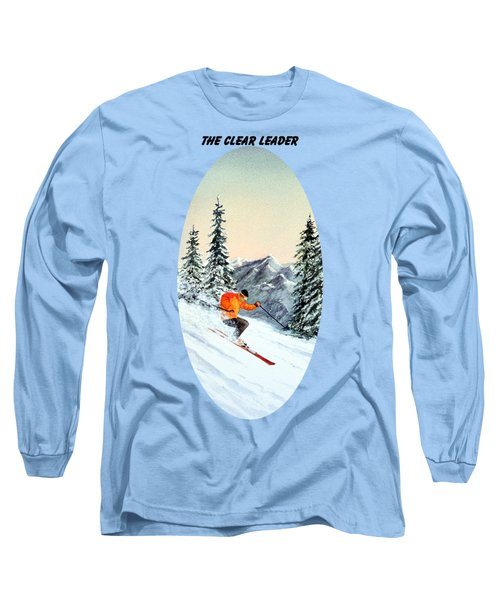 The Clear Leader Skiing Long Sleeve T-Shirt by Bill Holkham