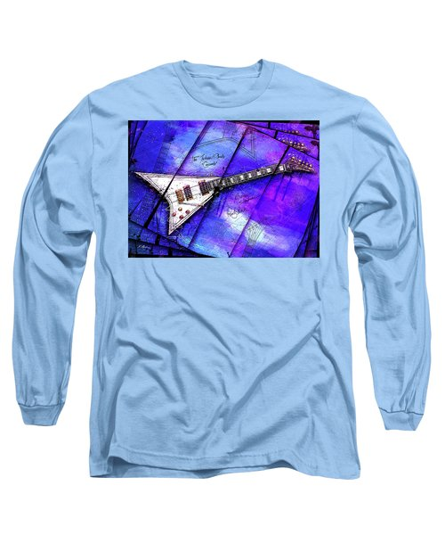 The Concorde On Blue Long Sleeve T-Shirt by Gary Bodnar