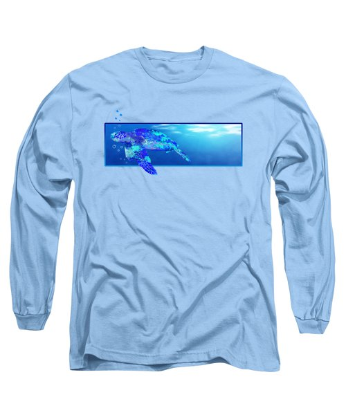 Underwater Sea Turtle Long Sleeve T-Shirt by Chris MacDonald