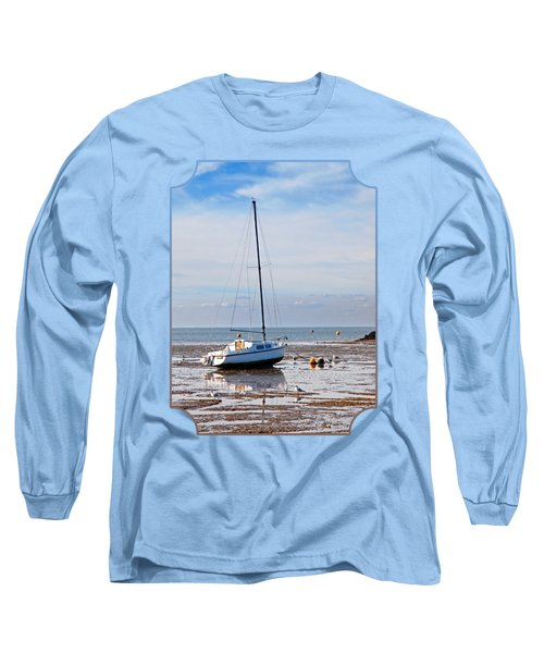 Waiting For High Tide Long Sleeve T-Shirt by Gill Billington