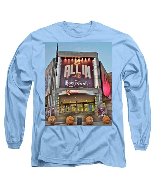 World Champion Cleveland Cavaliers Long Sleeve T-Shirt by Frozen in Time Fine Art Photography