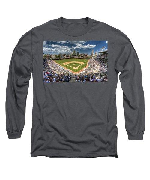 0234 Wrigley Field Long Sleeve T-Shirt by Steve Sturgill