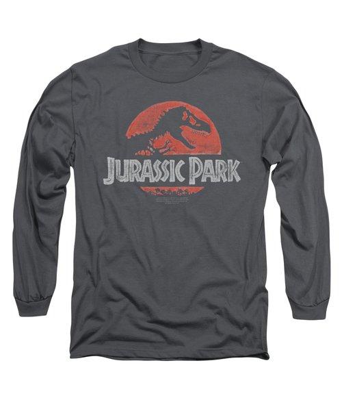 Jurassic Park - Faded Logo Long Sleeve T-Shirt by Brand A