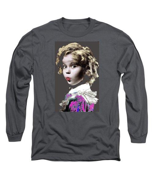 Shirley Temple Publicity Photo Circa 1935-2014 Long Sleeve T-Shirt by David Lee Guss