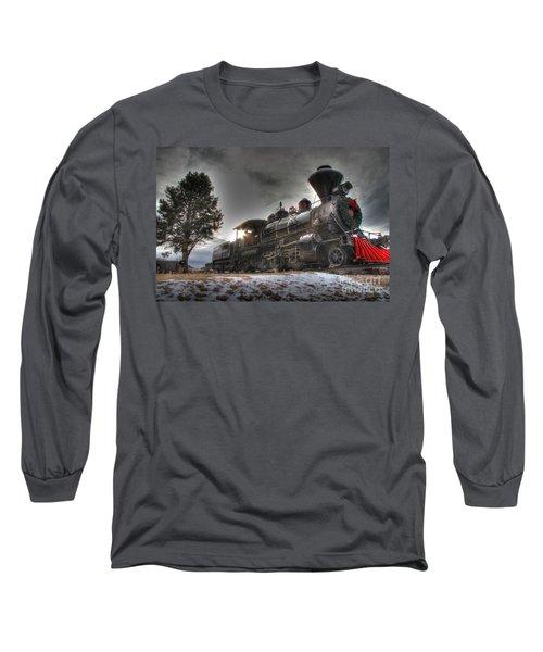 Long Sleeve T-Shirt featuring the photograph 1880 Train by Bill Gabbert