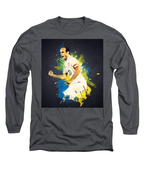 Landon Donovan Long Sleeve T-Shirt by Taylan Apukovska