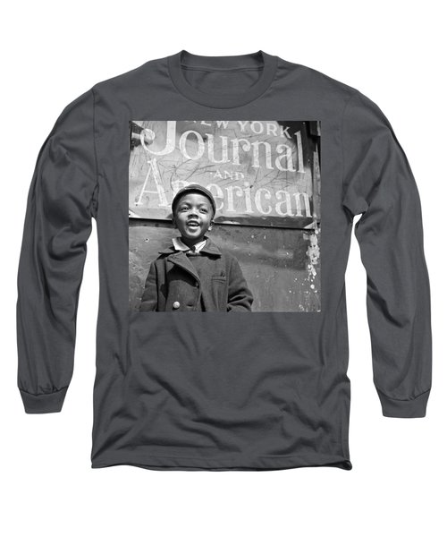 A Young Harlem Newsboy Long Sleeve T-Shirt by Underwood Archives