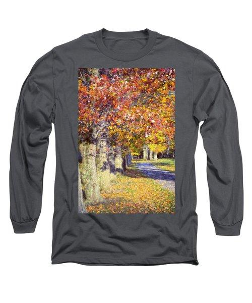 Autumn In Hyde Park Long Sleeve T-Shirt by Joan Carroll
