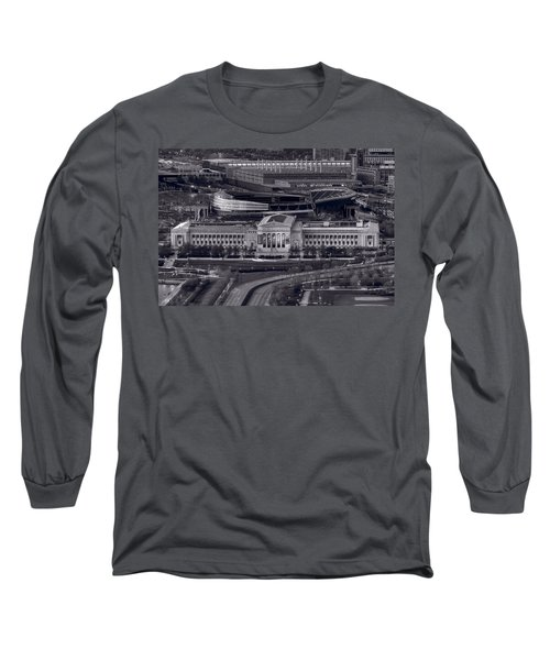 Chicago Icons Bw Long Sleeve T-Shirt by Steve Gadomski