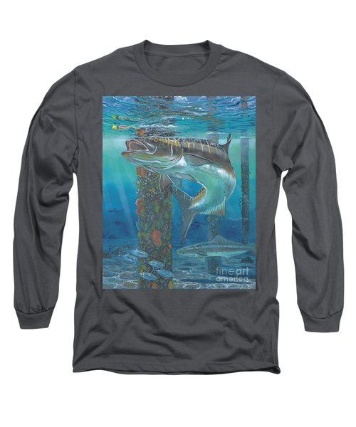 Cobia Strike In0024 Long Sleeve T-Shirt by Carey Chen