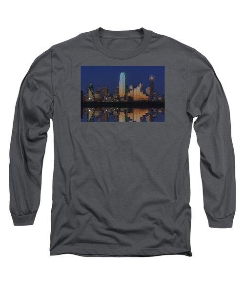 Dallas Aglow Long Sleeve T-Shirt by Rick Berk