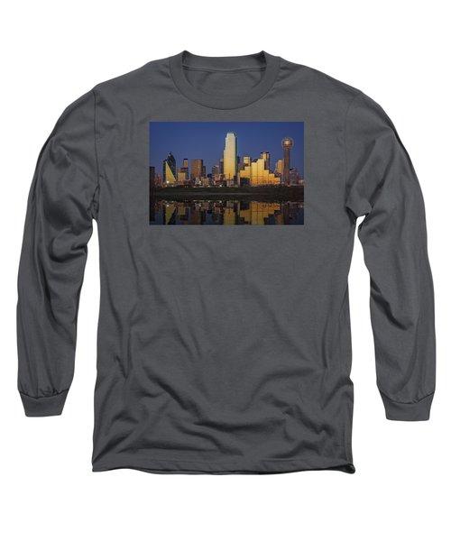 Dallas At Dusk Long Sleeve T-Shirt by Rick Berk