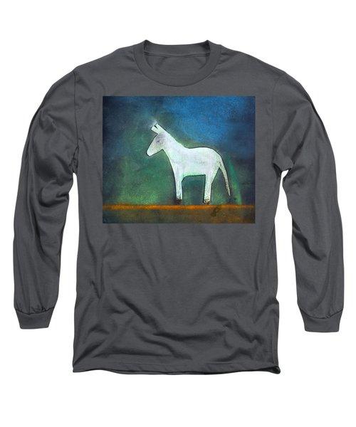 Donkey, 2011 Oil On Canvas Long Sleeve T-Shirt by Roya Salari