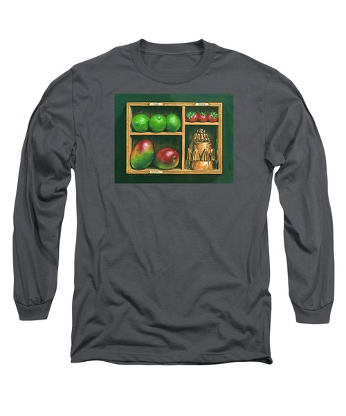 Fruit Shelf Long Sleeve T-Shirt by Brian James
