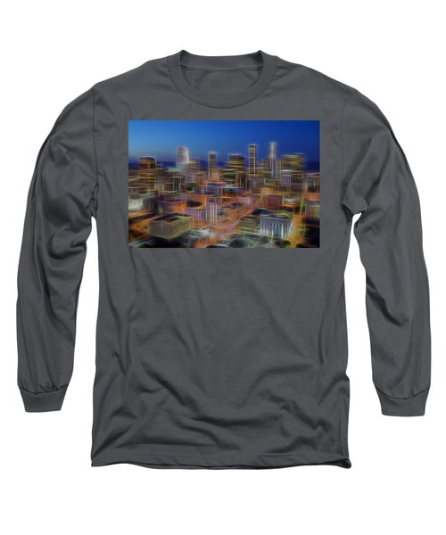 Glowing City Long Sleeve T-Shirt by Kelley King