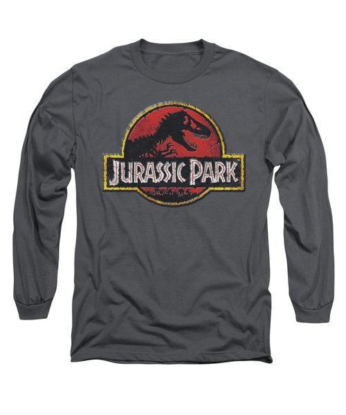 Jurassic Park - Stone Logo Long Sleeve T-Shirt by Brand A
