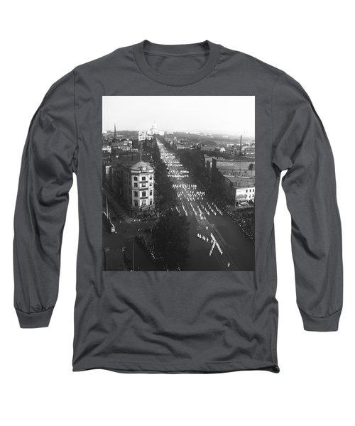 Ku Klux Klan Parade Long Sleeve T-Shirt by Underwood Archives