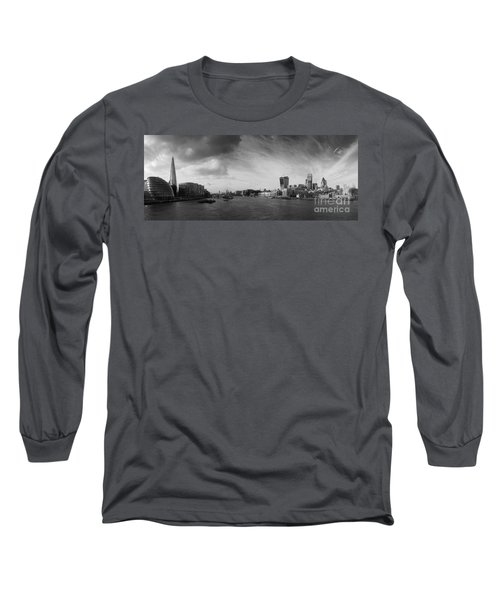 London City Panorama Long Sleeve T-Shirt by Pixel Chimp