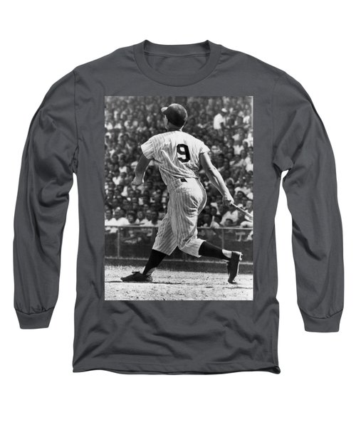 Maris Hits 52nd Home Run Long Sleeve T-Shirt by Underwood Archives
