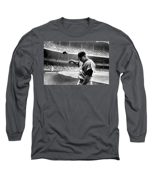 Mickey Mantle Long Sleeve T-Shirt by Gianfranco Weiss