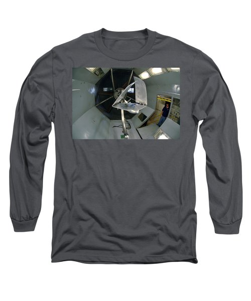 Long Sleeve T-Shirt featuring the photograph Model Airplane In Wind Tunnel by Science Source