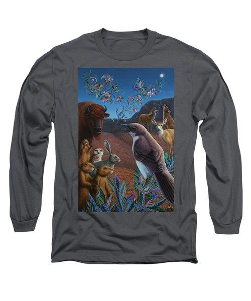 Moonlight Cantata Long Sleeve T-Shirt by James W Johnson