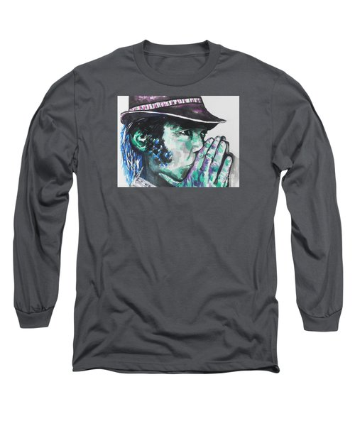 Neil Young Long Sleeve T-Shirt by Chrisann Ellis