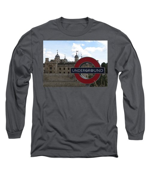 Next Stop Tower Of London Long Sleeve T-Shirt by Jenny Armitage
