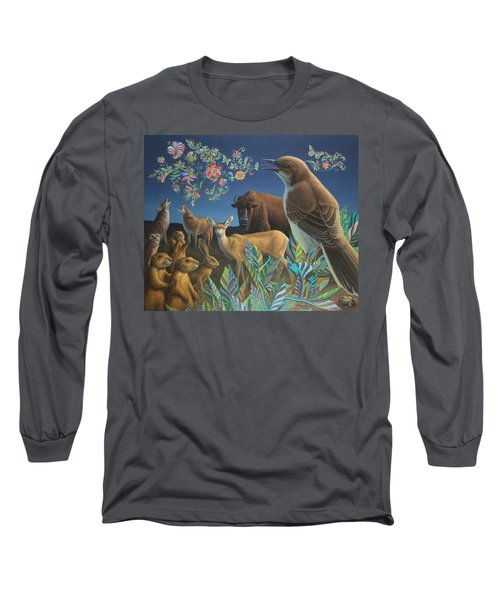 Nocturnal Cantata Long Sleeve T-Shirt by James W Johnson
