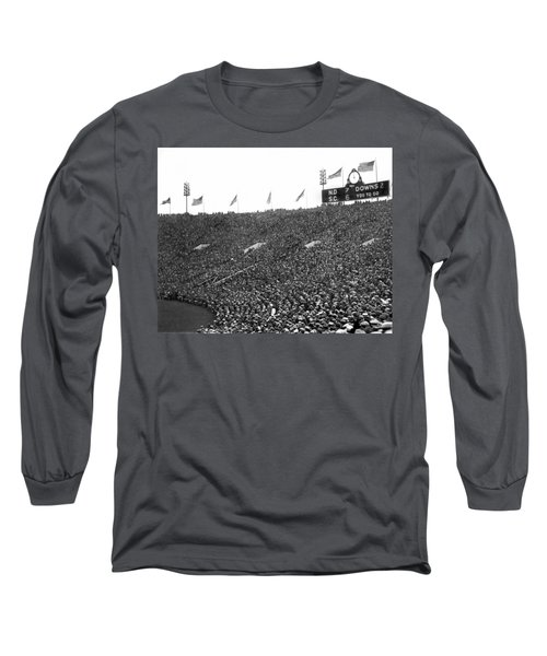 Notre Dame-usc Scoreboard Long Sleeve T-Shirt by Underwood Archives