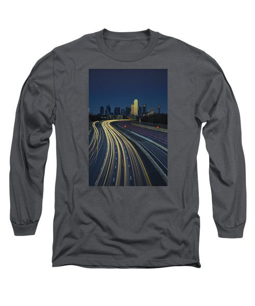 Oncoming Traffic Long Sleeve T-Shirt by Rick Berk