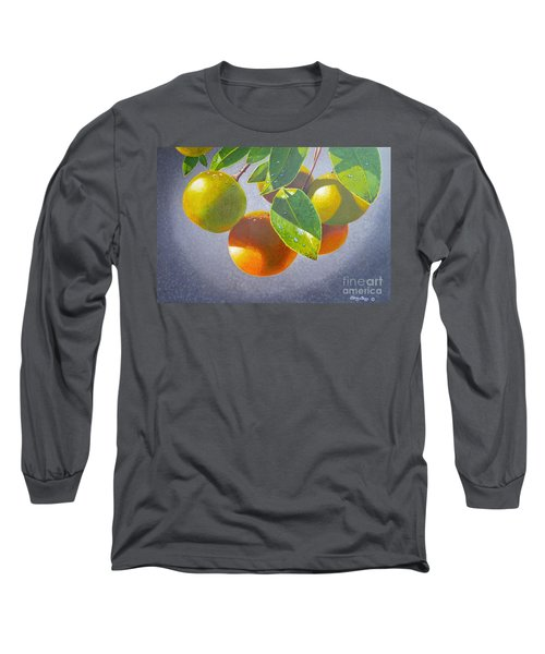 Oranges Long Sleeve T-Shirt by Carey Chen