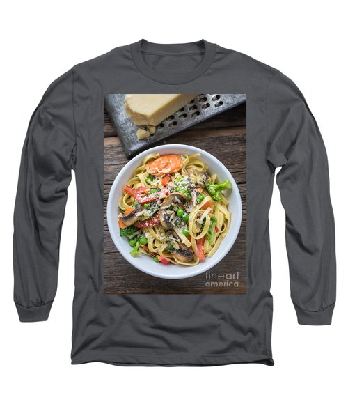 Pasta Primavera Dish Long Sleeve T-Shirt by Edward Fielding