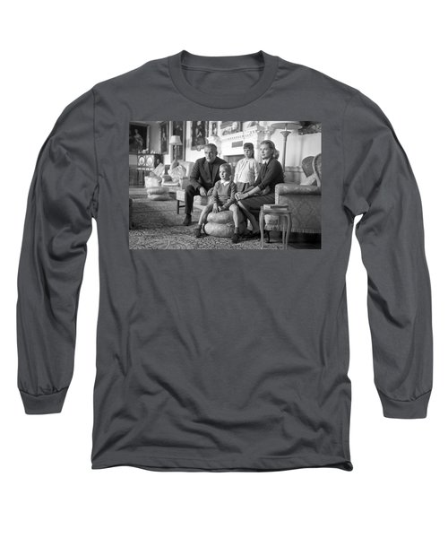 Princess Grace Of Monaco And Family In Ireland Long Sleeve T-Shirt by Irish Photo Archive