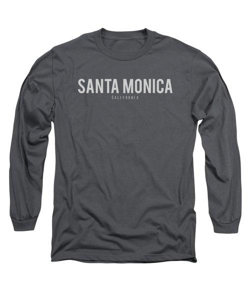 Santa Monica, California Long Sleeve T-Shirt by Design Ideas