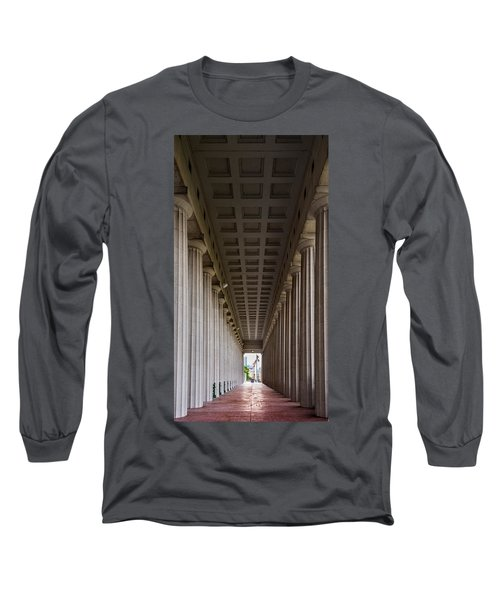Soldier Field Colonnade Long Sleeve T-Shirt by Steve Gadomski