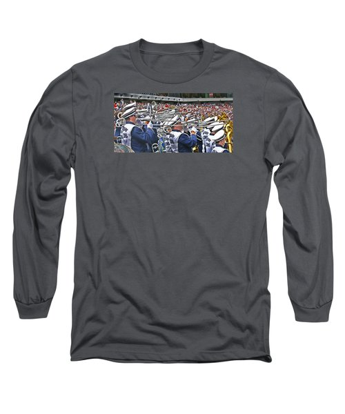 Sounds Of College Football Long Sleeve T-Shirt by Tom Gari Gallery-Three-Photography