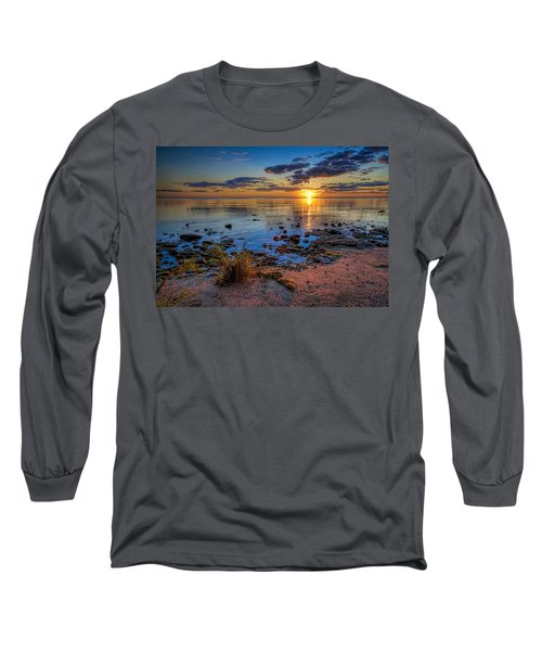 Sunrise Over Lake Michigan Long Sleeve T-Shirt by Scott Norris