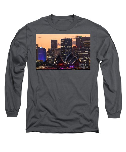 Sydney At Sunset Long Sleeve T-Shirt by Matteo Colombo