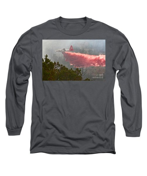 Long Sleeve T-Shirt featuring the photograph Tanker 07 On Whoopup Fire by Bill Gabbert