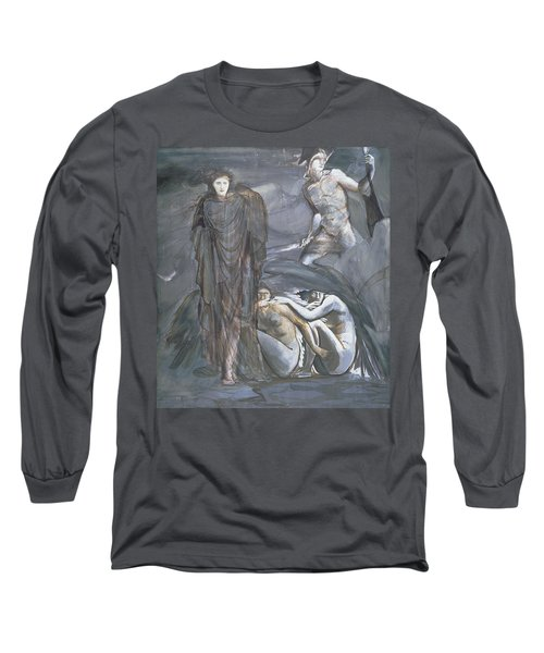 The Finding Of Medusa, C.1876 Long Sleeve T-Shirt by Sir Edward Coley Burne-Jones