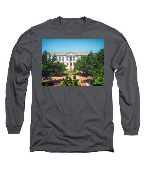The Old Main - University Of Arkansas Long Sleeve T-Shirt by Mountain Dreams