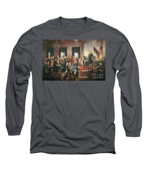 The Signing Of The Constitution Of The United States In 1787 Long Sleeve T-Shirt by Howard Chandler Christy
