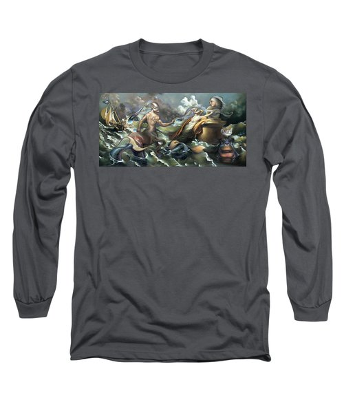 There's Something Fowl Afloat Long Sleeve T-Shirt by Patrick Anthony Pierson