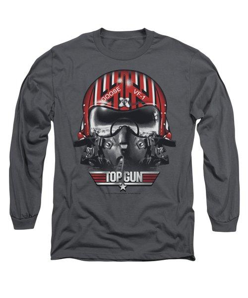Top Gun - Goose Helmet Long Sleeve T-Shirt by Brand A