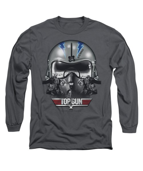 Top Gun - Iceman Helmet Long Sleeve T-Shirt by Brand A