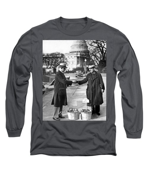 Unemployed Man Sells Apples Long Sleeve T-Shirt by Underwood Archives