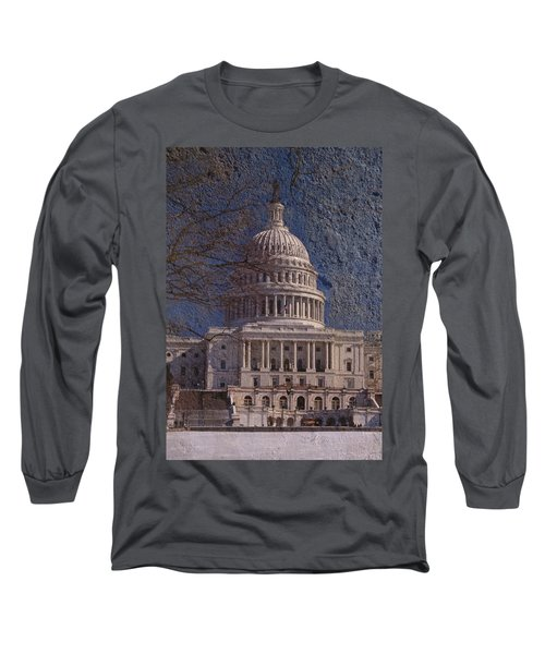 United States Capitol Long Sleeve T-Shirt by Skip Willits