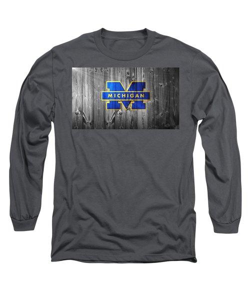 University Of Michigan Long Sleeve T-Shirt by Dan Sproul
